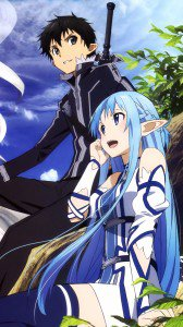 Sword Art Online 2 Kirito Asuna.Samsung Galaxy S4 wallpaper 1080x1920