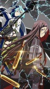 Sword Art Online 2 Kirito Sinon 1080x1920