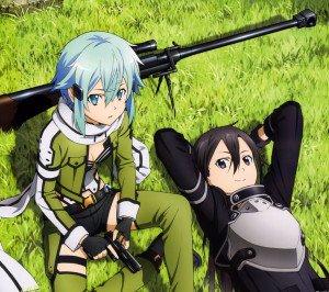 Sword Art Online 2 Kirito Sinon 2160x1920