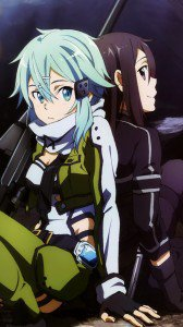 Sword Art Online 2 Kirito Sinon.HTC One wallpaper 1080x1920