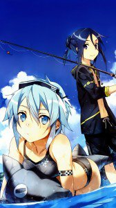 Sword Art Online 2 Kirito Sinon.Magic THL W8 wallpaper 1080x1920
