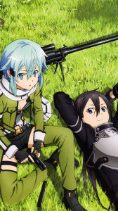 Sword Art Online 2 Kirito Sinon.iPhone 6 Plus wallpaper 1080x1920