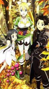 Sword Art Online 2 Kirito Yui Leafa.Sony Xperia Z wallpaper 1080x1920