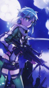 Sword Art Online 2 Sinon.LG D802 Optimus G2 wallpaper 1080x1920