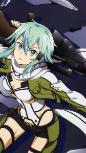 Sword Art Online 2 Sinon.Samsung Galaxy Note 3 wallpaper 1080x1920