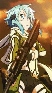 Sword Art Online 2 Sinon.iPhone 6 Plus wallpaper 1080x1920