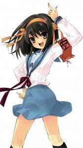 Melancholy of Haruhi Suzumiya Haruhi Suzumiya.Magic THL W300 wallpaper 1080x1920