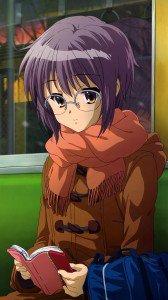 Melancholy of Haruhi Suzumiya Yuki Nagato.Samsung Galaxy S4 wallpaper 1080x1920