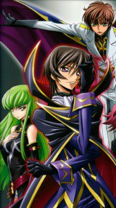 Code Geass C.C. Lelouch Lamperouge and Suzaku Kururugi.iPhone 6 wallpaper