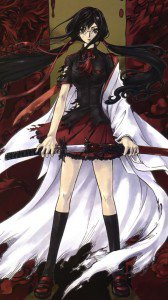 Blood-C Saya Kisaragi.ZTE Flash wallpaper 720x1280