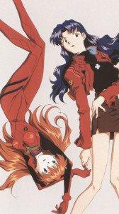 Neon Genesis Evangelion Asuka Langley Soryu Misato Katsuragi.HTC One wallpaper 1080x1920