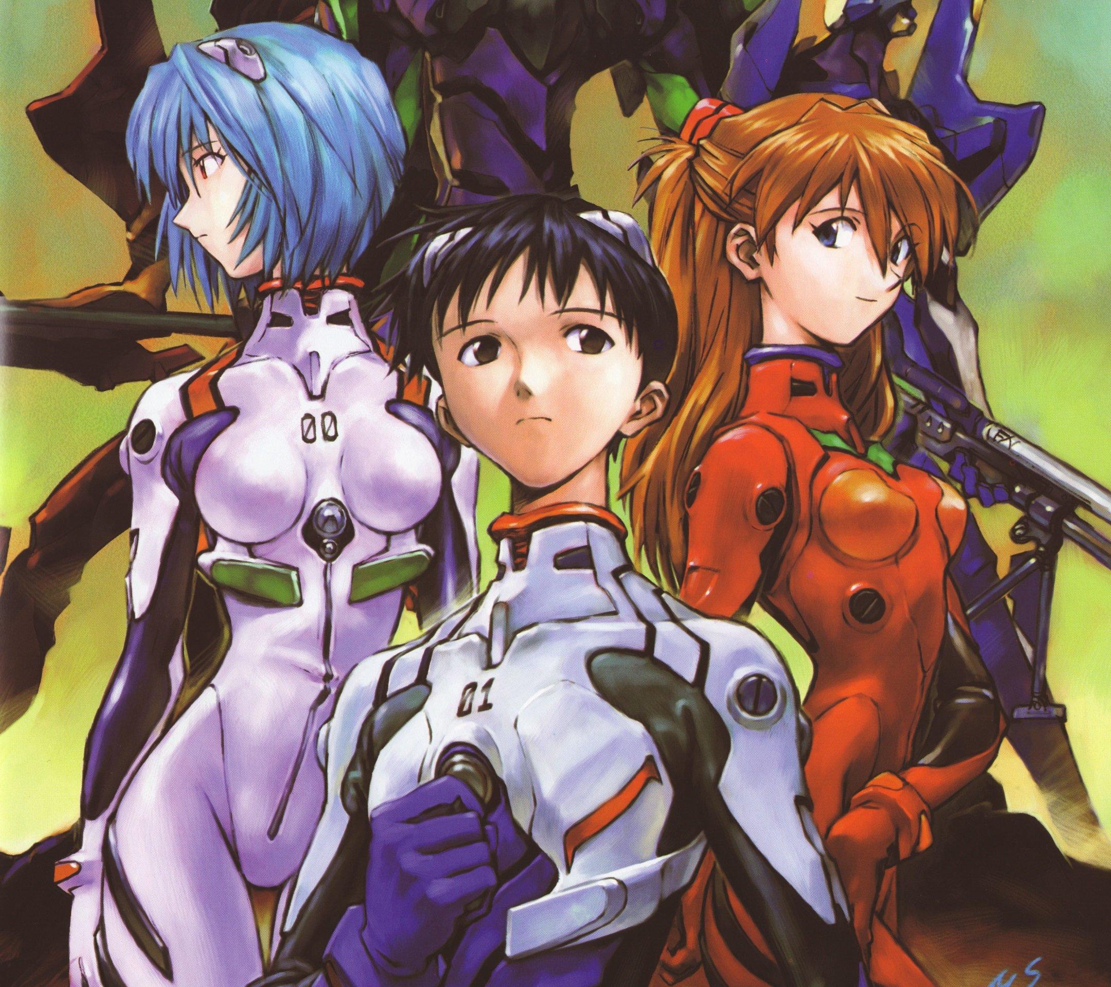 Neon Genesis Evangelion Asuka Langley Soryu Rei Ayanami Shinji Ikari 2160x1920