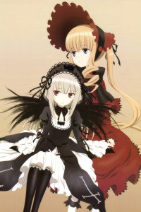 Rozen Maiden Shinku Suigintou wallpaper for iPhone 4