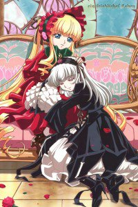 Rozen Maiden Shinku Suigintou.iPod 4 wallpaper 640x960