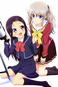 Charlotte Nao Tomori Ayumi Otosaka.iPod 4 wallpaper 640x960