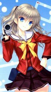 Charlotte Nao Tomori.Samsung Galaxy S4 wallpaper 1080x1920