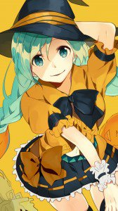 Halloween anime 2015 Sony Xperia wallpaper 1080x1920