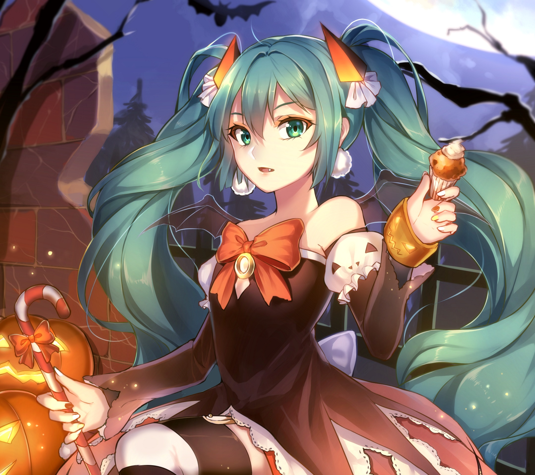 halloween anime 2015.android wallpaper 2160x1920