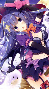 Halloween anime 2015.Magic THL W300 wallpaper 1080x1920