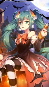 Halloween anime 2015.Samsung Galaxy Note 3 wallpaper 1080x1920