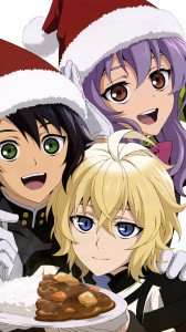 Christmas 2016 anime Owari no Seraph.Samsung Galaxy Note 3 wallpaper 1080x1920