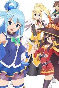 KonoSuba Aqua Megumin Darkness.iPod 4 wallpaper 640x960