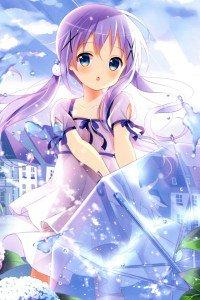 Gochumon wa Usagi Desu ka Chino Kafu.iPod 4 wallpaper 640x960