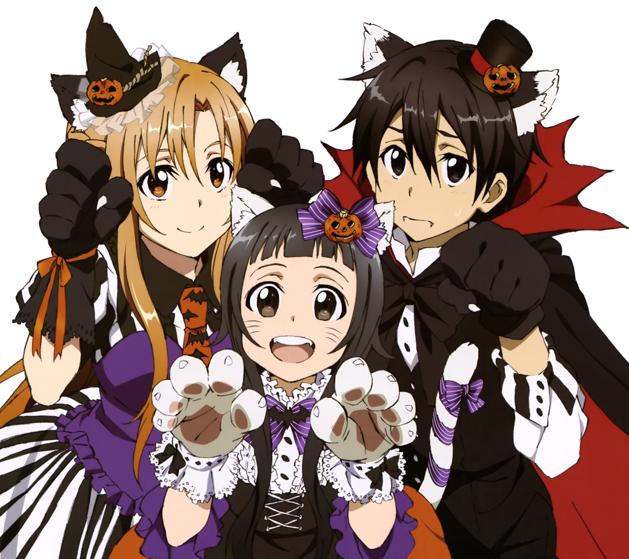 Halloween Kirito Asuna.Android wallpaper 2160x1920