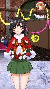 Christmas anime 2017 Girls und Panzer Hana Isuzu.iPhone 7 Plus wallpaper 1080x1920