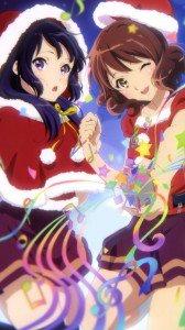 Christmas anime 2017 Hibike Euphonium Kumiko Oumae Reina Kousaka.iPhone 7 Plus wallpaper 1080x1920