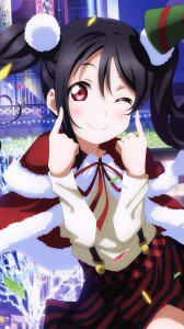 Christmas anime 2017 Love Live.Samsung Galaxy Note 3 wallpaper 1080x1920