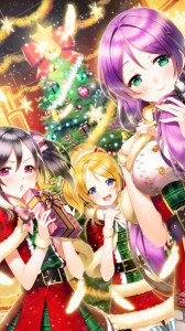 Christmas anime 2017.Motorola Droid Razr HD wallpaper 720x1280