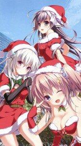 Christmas anime 2017.Sony Xperia Z wallpaper 1080x1920