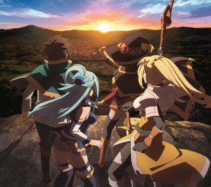 KonoSuba Aqua Darkness Kazuma Sato Megumin.Android wallpaper 2160x1920