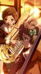 Hibike Euphonium Hazuki Katou Sapphire Kawashima.iPhone 6 Plus wallpaper 1080x1920