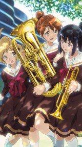 Hibike Euphonium Kumiko Oumae Reina Kousaka Sapphire Kawashima.Samsung Galaxy S4 wallpaper 1080x1920