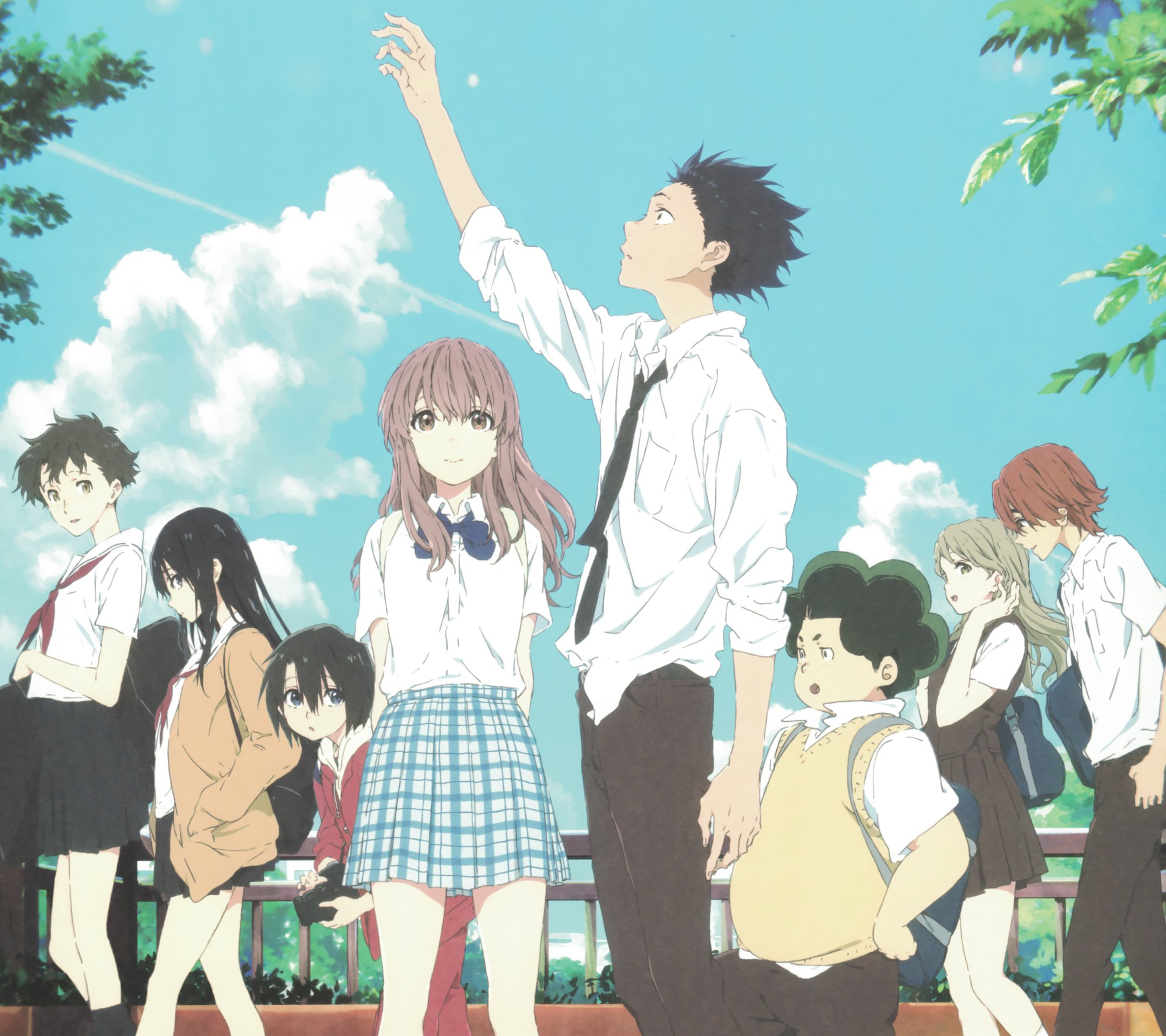 Koe no Katachi.Android wallpaper 2160x1920