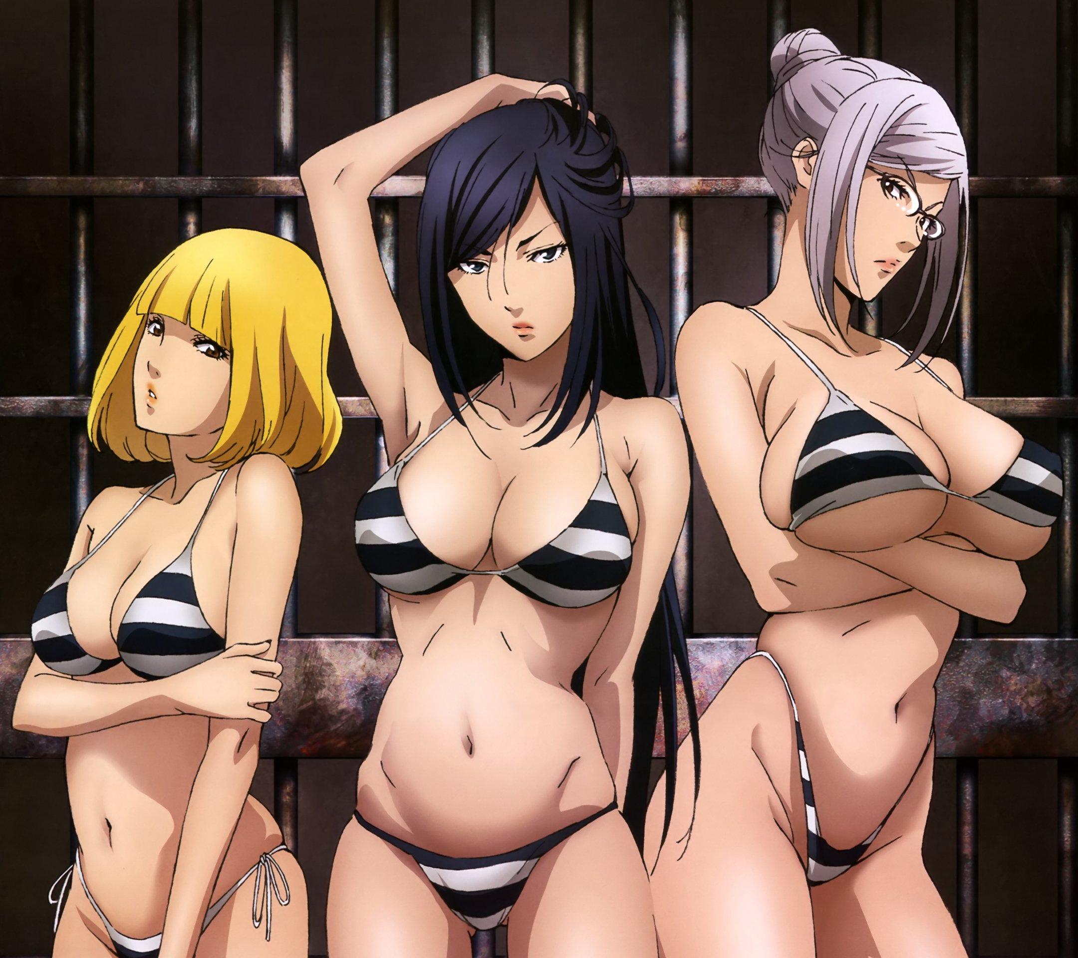 Prison School Mari Kurihara Meiko Shiraki Hana Midorikawa.Android wallpaper 2160x1920