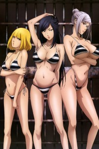 Prison School Mari Kurihara Meiko Shiraki Hana Midorikawa.iPhone 4 wallpaper 640x960