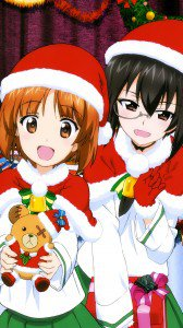 Girls und Panzer Christmas 2160x3840