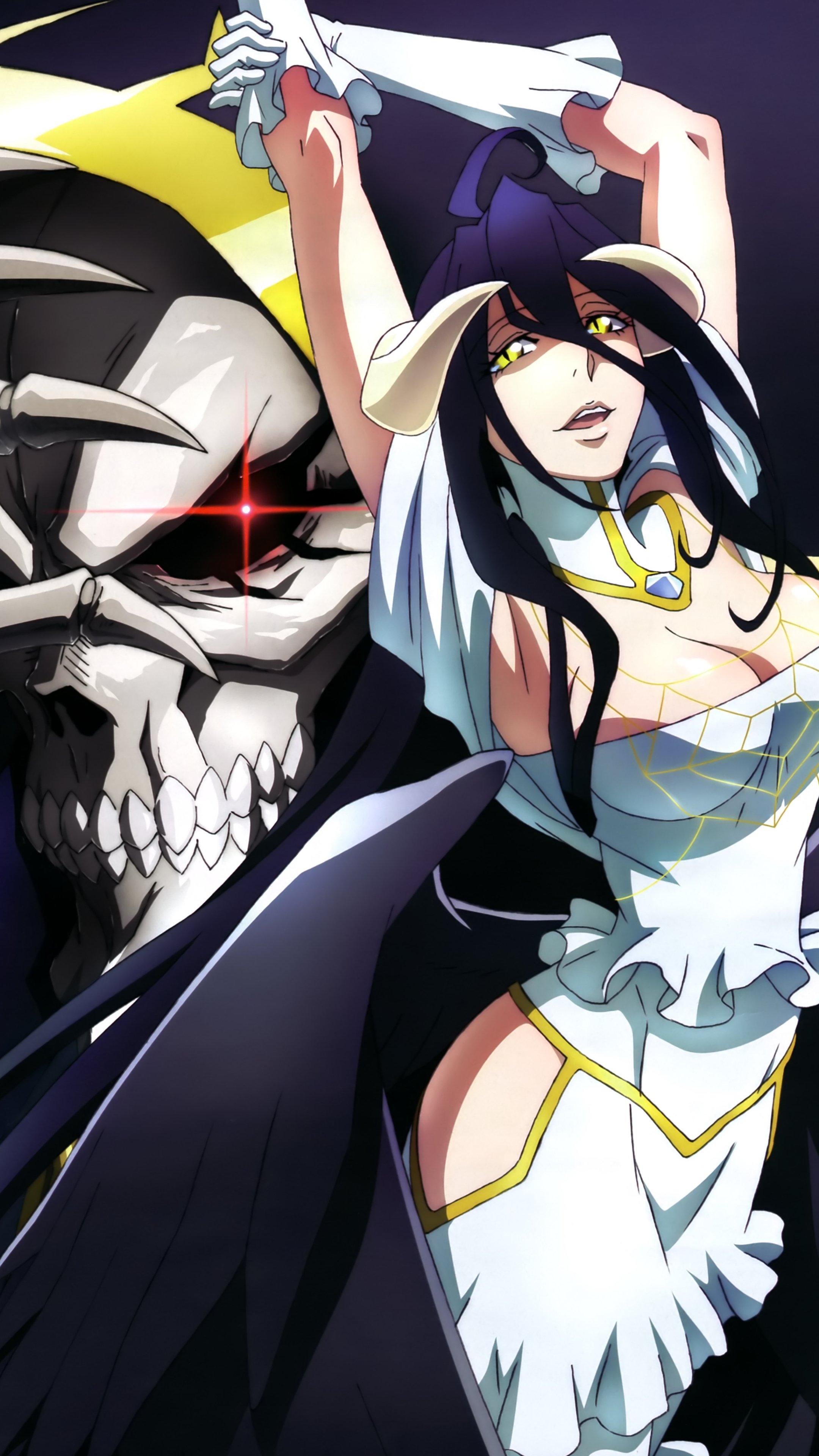 Overlord Ii Ainz Ooal Gown And Albedo 2160 3840 Kawaii Mobile