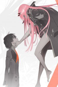 Darling in the Franxx Hiro and Zero Two.iPhone 4 wallpaper 640x960