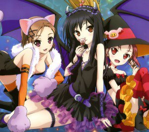 Halloween anime Accel World 2160x1920