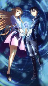 Sword Art Online Alicization Asuna Kirito 1080x1920