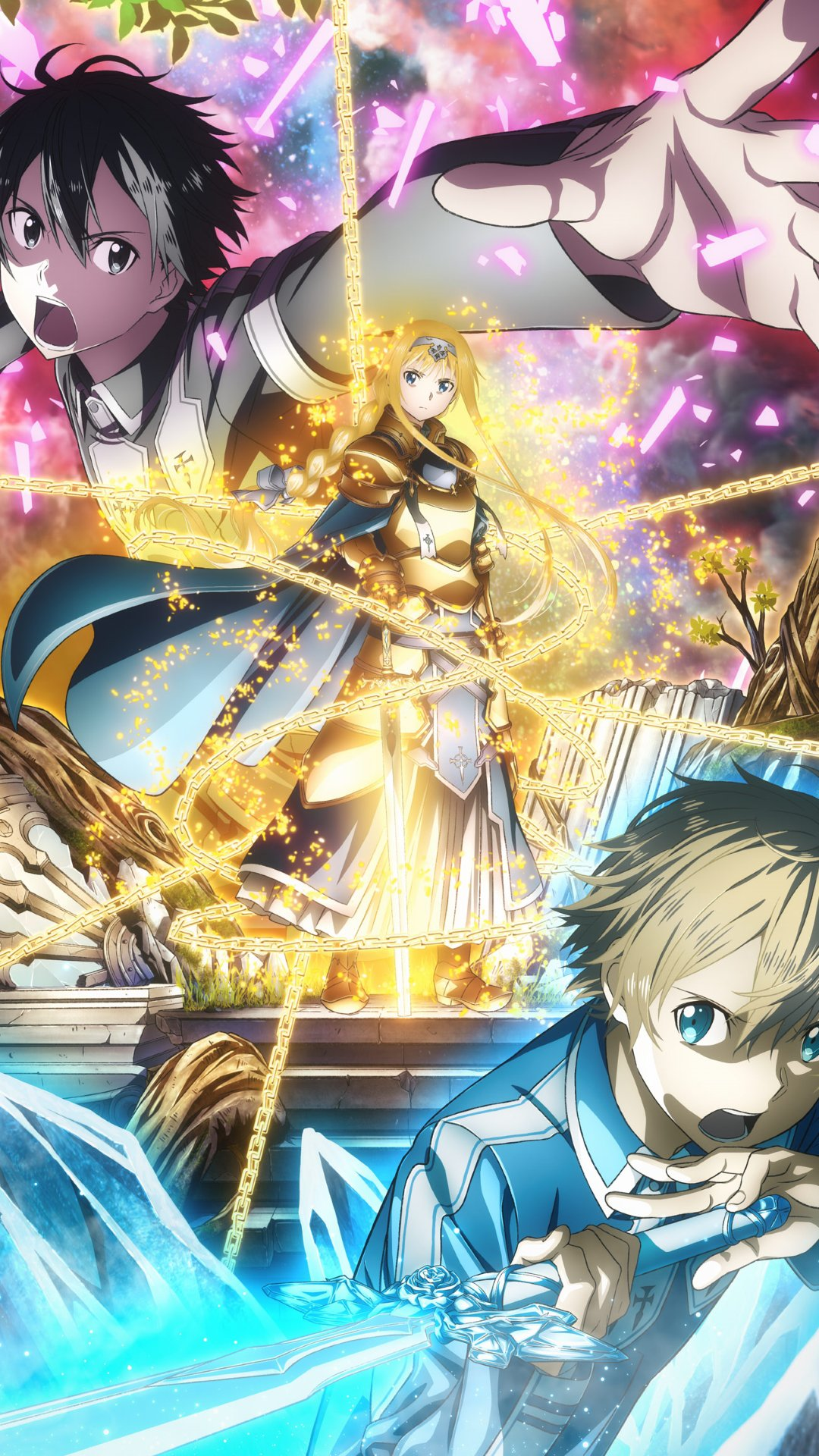 Sword Art Online Alicization.Sony Xperia Z wallpaper 1080x1920