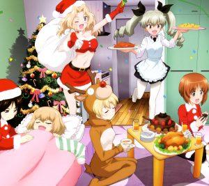 Christmas Girls und Panzer 2160x1920